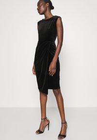 Closet - WRAP OVER DRESS - Shift dress - black - 4