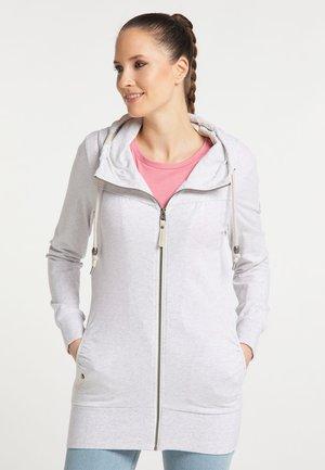 ABBIE - Zip-up sweatshirt - white
