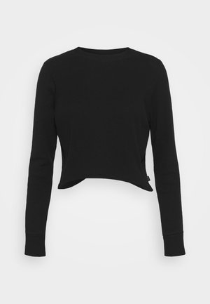 CROSS BACK LONG SLEEVE - Top s dlouhým rukávem - black