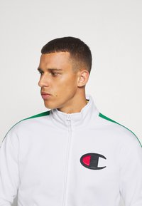 Champion - ROCHESTER RETRO BASKET FULL ZIP - Kurtka sportowa - white/green - 3
