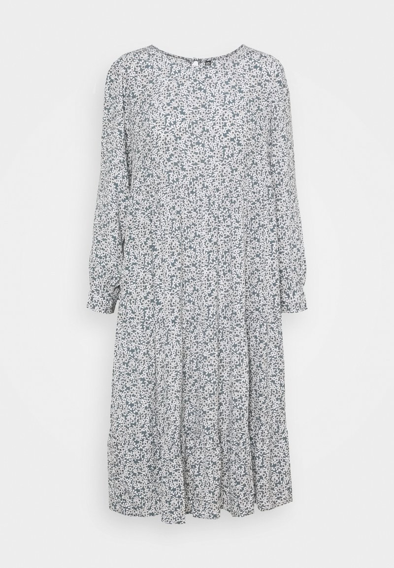 Pieces Petite PCMAGGI MIDI DRESS - Freizeitkleid - north atlantic/small flowers/türkis 9LDw5Y