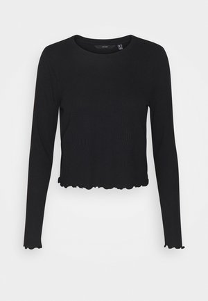 VMBREA CROPPED - Long sleeved top - black
