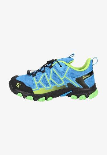Hiking shoes - blue/lime