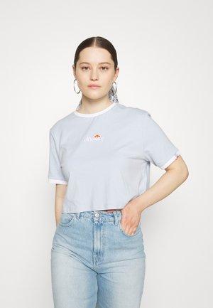 DERLA CROP - Basic T-shirt - light blue