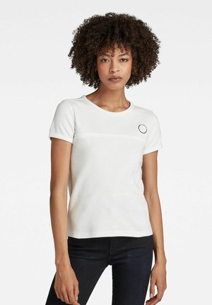 FRONT STITCH - Basic T-shirt - milk