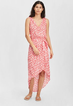 Day dress - red with pink or purple