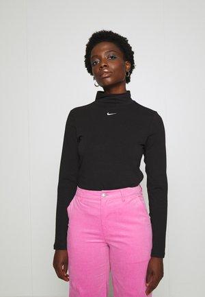 MOCK TOP - Long sleeved top - black/white