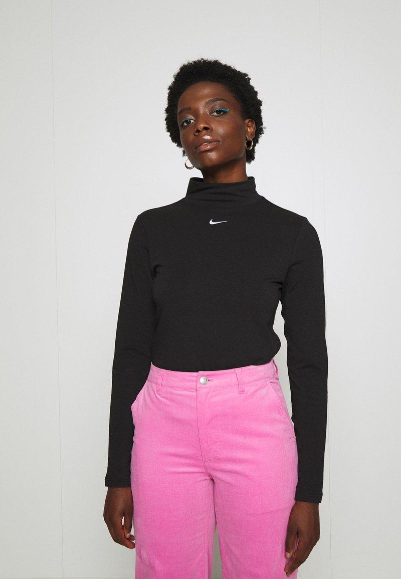 Nike Sportswear - MOCK TOP - Topper langermet - black/white