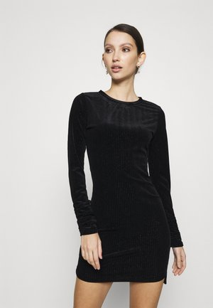 FRIDAY LONG SLEEVE DRESS - Shift dress - black/silver