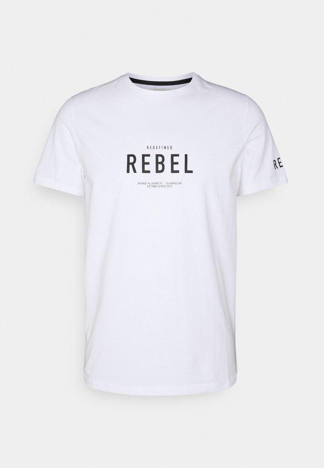 RONAN TEE - T-shirt print - white