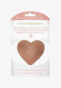 Konjac Sponge - HEART SPONGE - Skincare tool - french pink clay - 0