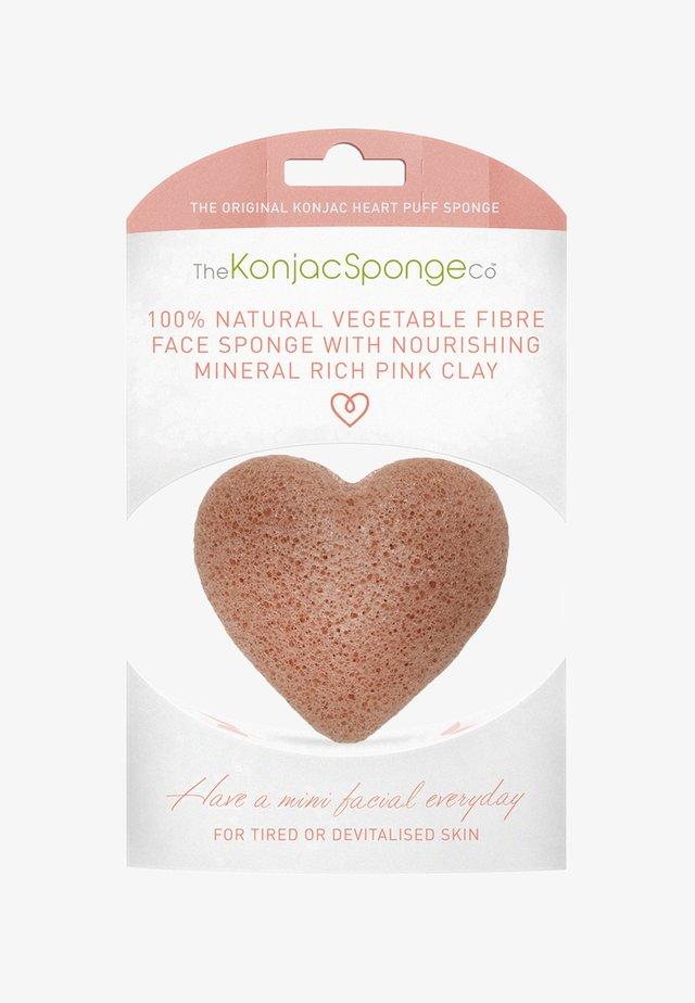 HEART SPONGE - Huidverzorgingstool - french pink clay