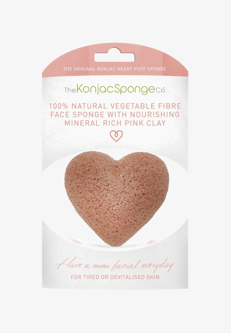 Konjac Sponge - HEART SPONGE - Skincare tool - french pink clay