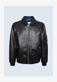 Pepe Jeans - MOORE - Leather jacket - black - 4