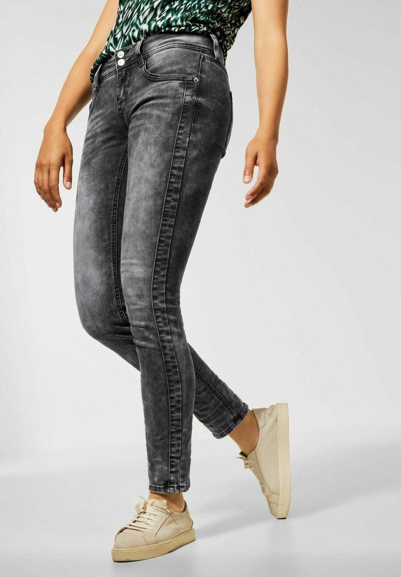 Street One - Slim fit jeans - schwarz