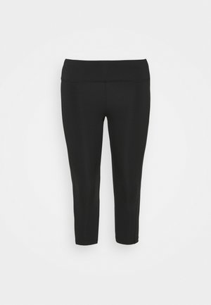 FAST CROP PLUS - Collants - black/reflective silver