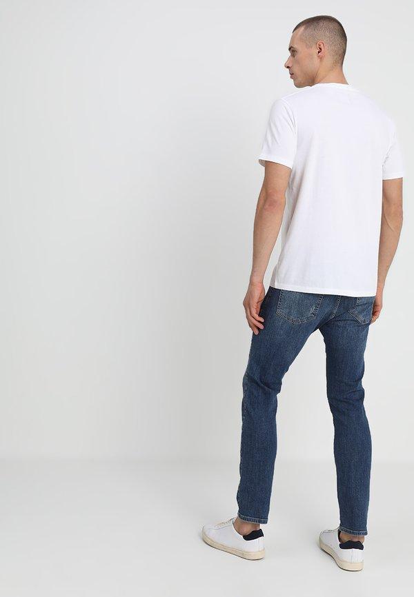 Abercrombie & Fitch 3 PACK - T-shirt basic - blue/white/grey/granatowy Odzież Męska FSGY