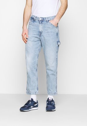 TAPER CARPENTER CROP - Džíny Straight Fit - dark indigo