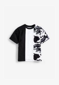 Next - Print T-shirt - black/white - 0