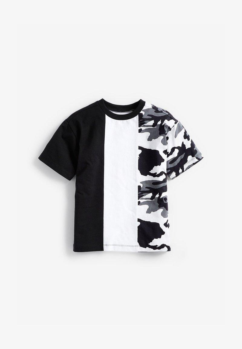 Next - Print T-shirt - black/white