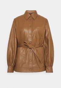 Samsøe Samsøe - VESTINE JACKET  - Faux leather jacket - camel - 4