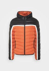 Winterjacke - black / orange