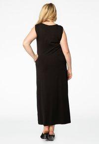 Yoek - MIT V-AUSSCHNITT - Maxi dress - black - 2