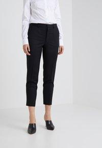 Filippa K - EMMA CROPPED COOL TROUSER - Trousers - black - 0