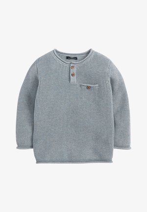 HENLEY BUTTON  - Jumper - blue