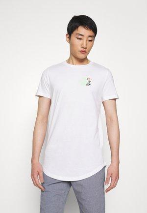 WITH CHESTPRINT - Print T-shirt - white