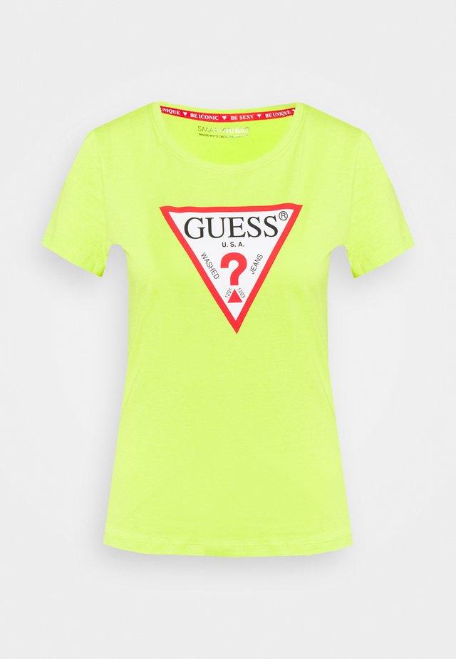 ORIGINAL - Print T-shirt - energy lime