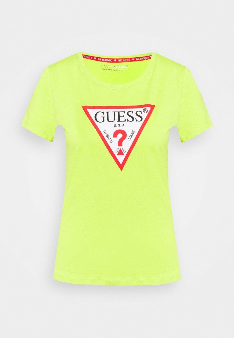 Guess - ORIGINAL - Print T-shirt - energy lime