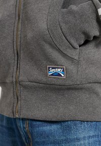 Superdry - CORE LOGO CALI RAGLAN  - Zip-up hoodie - dark marl - 1