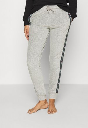 AUTHENTIC TEXTURE TRACK PANT - Pyjama bottoms - mid grey heather