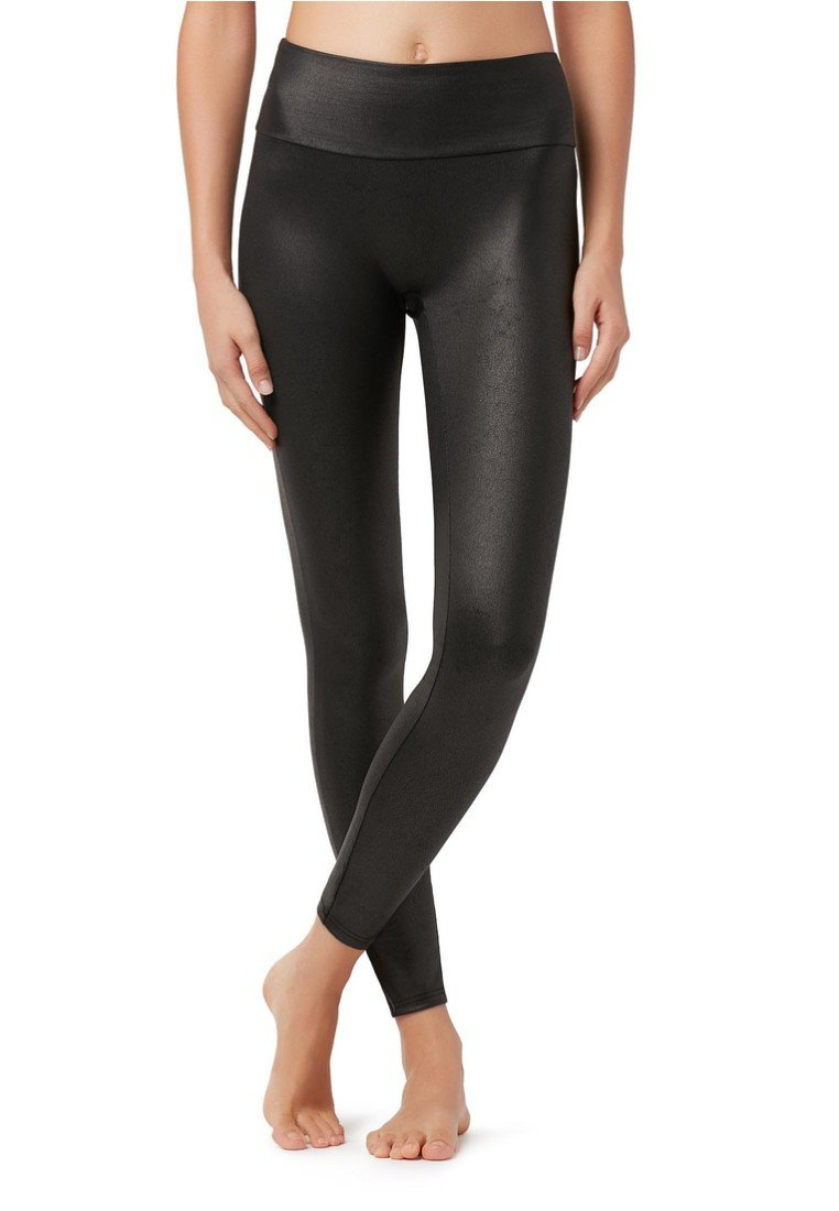 Calzedonia - TOTAL-SHAPER-LEGGINGS MIT LEDER-EFFEKT - Leggings - Stockings - black