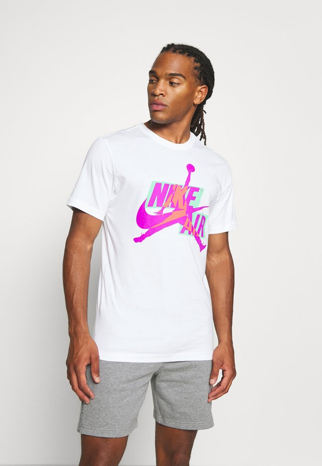 CLASSICS CREW - T-shirt imprimé - white/vivid purple