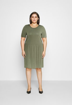 PCKAMALA DRESS - Jersey dress - deep lichen green