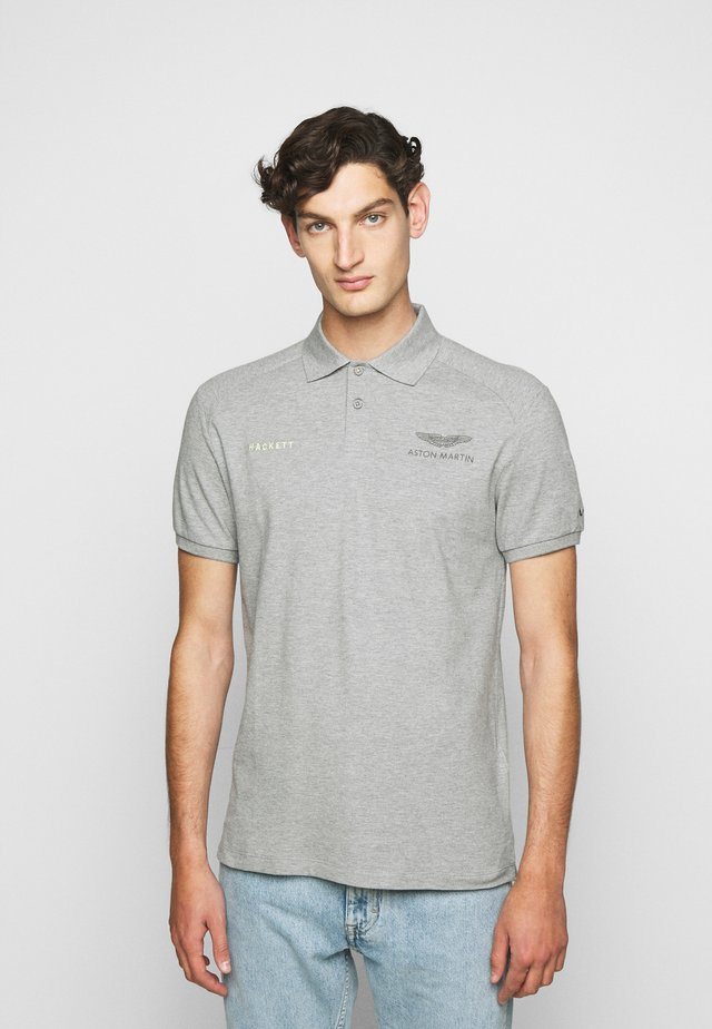 AMR CUT LINES - Polo - grey marl