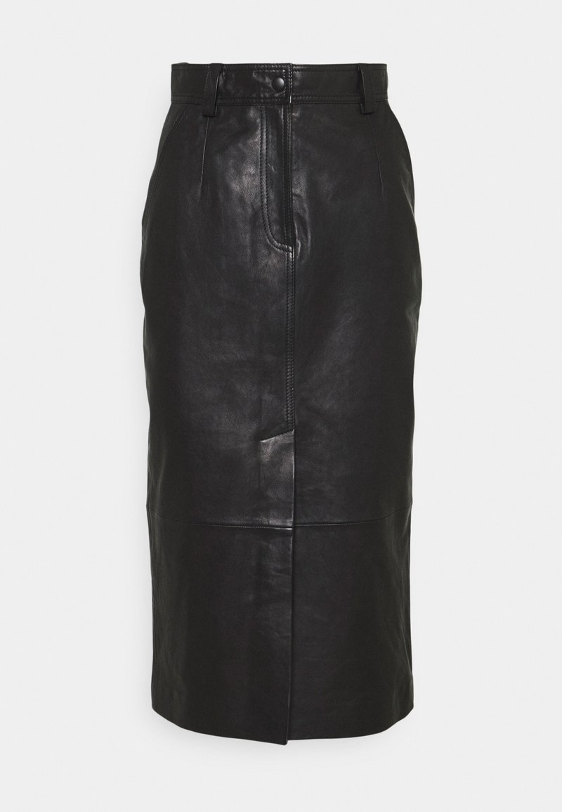 EDITED - CARA SKIRT - Leather skirt - schwarz