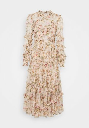 GARLAND FLORA RUFFLE BALLERINA DRESS - Společenské šaty - strawberry icing