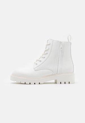 MID BOOT LACEUP ZIP  - Snørestøvletter - bright white