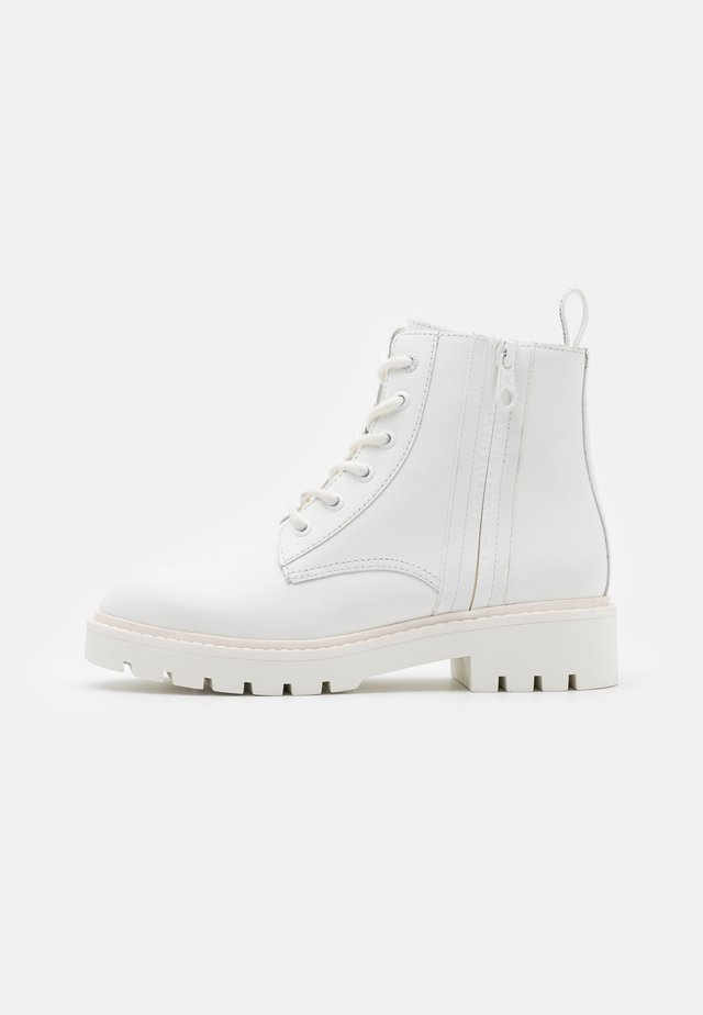 MID BOOT LACEUP ZIP  - Veterboots - bright white