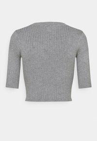 Even&Odd - 2 PACK - T-shirt basic - mottled grey/sand - 7