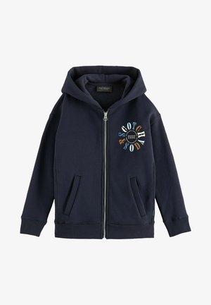 ZIP-THROUGH GRAPHIC HOODIE - Zip-up sweatshirt - night