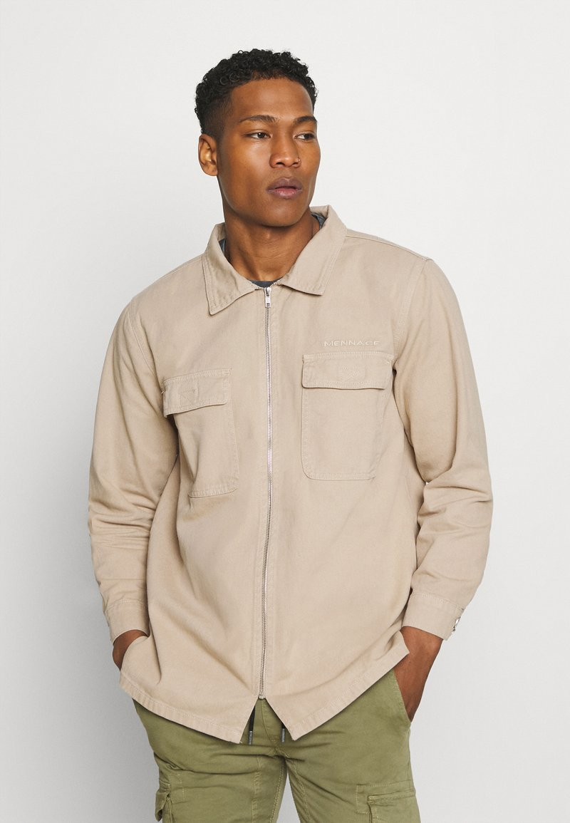 Mennace - AFTERMATH DOUBLE POCKET - Camisa - beige