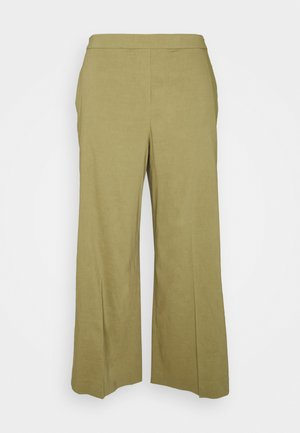 WIDE PULL ON - Trousers - sprig