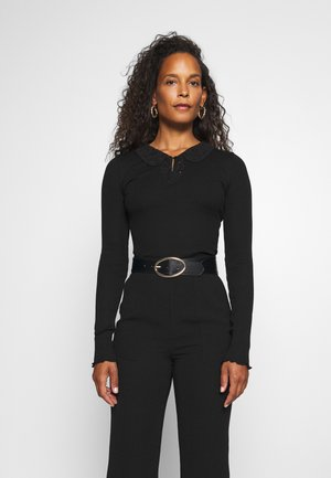REGULAR COLLAR - Long sleeved top - black