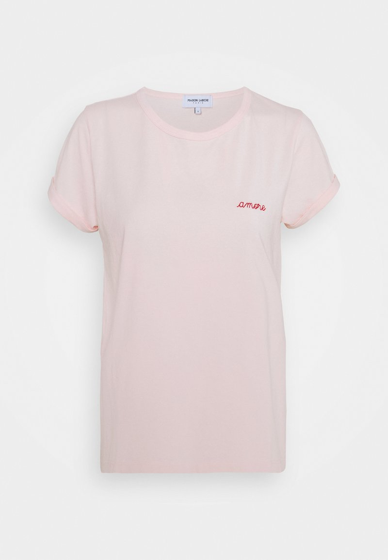 Maison Labiche - CLASSIC TEE AMORE - Triko spotiskem - english pink