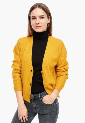 Cardigan - yellow melange