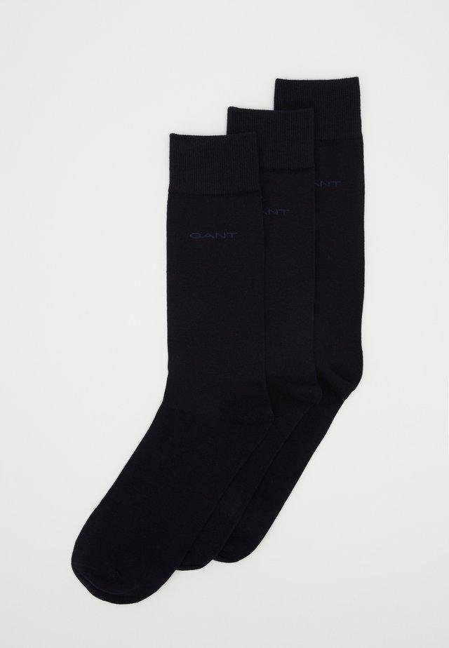 SOFT SOCKS 3 PACK - Strumpor - black